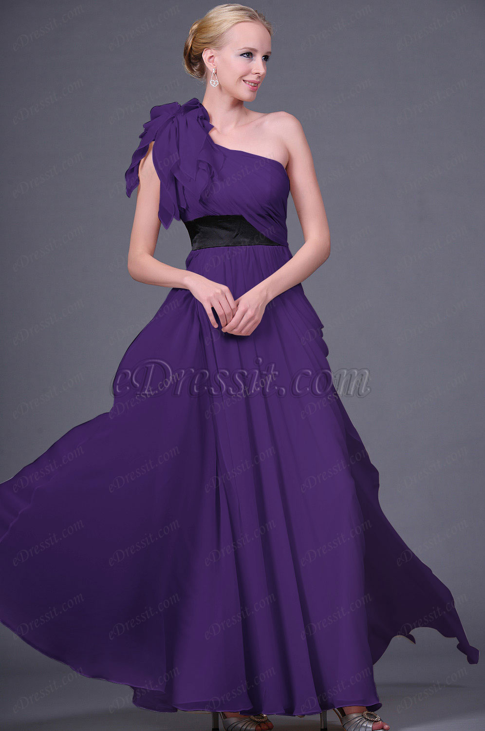 Clerance Sale ! eDressit Purple Evening Dress--Size UK10 (00111314c)