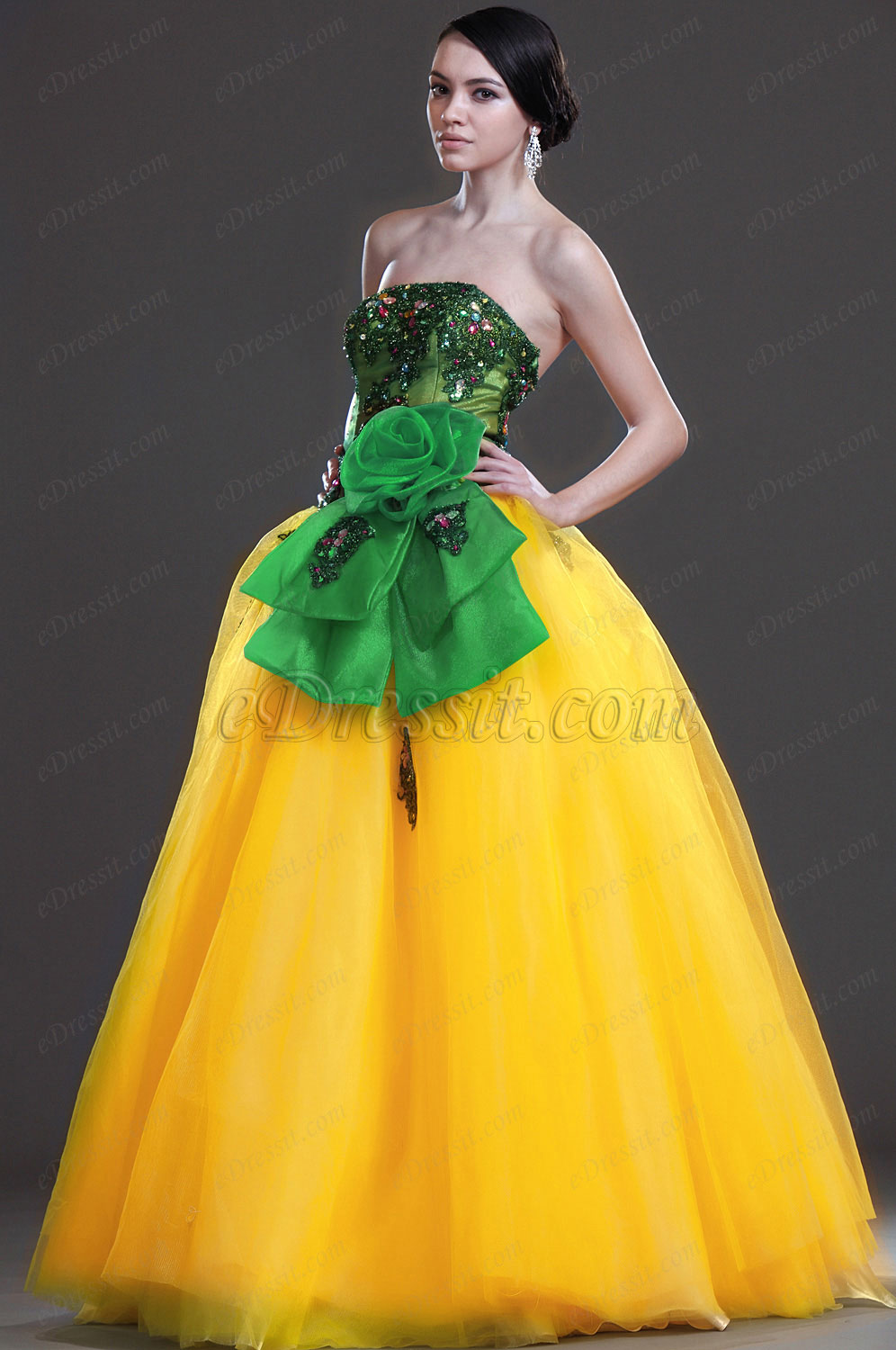 eDressit New Attractive Strapless Prom Gown (31110903)