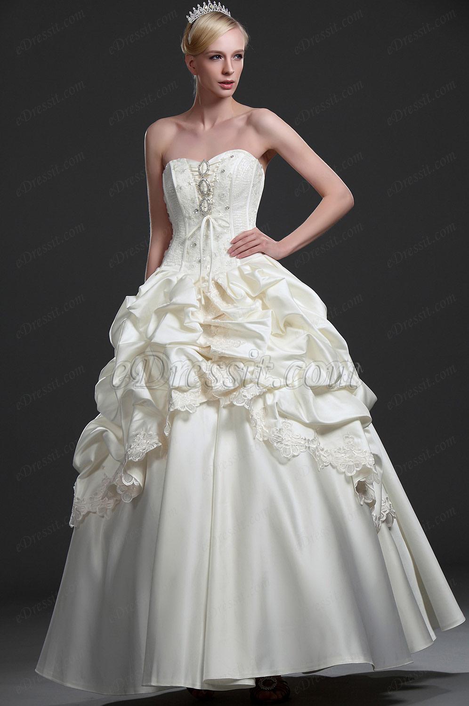 eDressit New Strapless Beaded Wedding Gown (01114013)