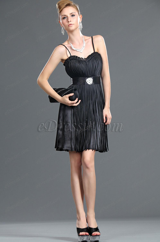 eDressit New Fringe Black Party Dress (35110300)