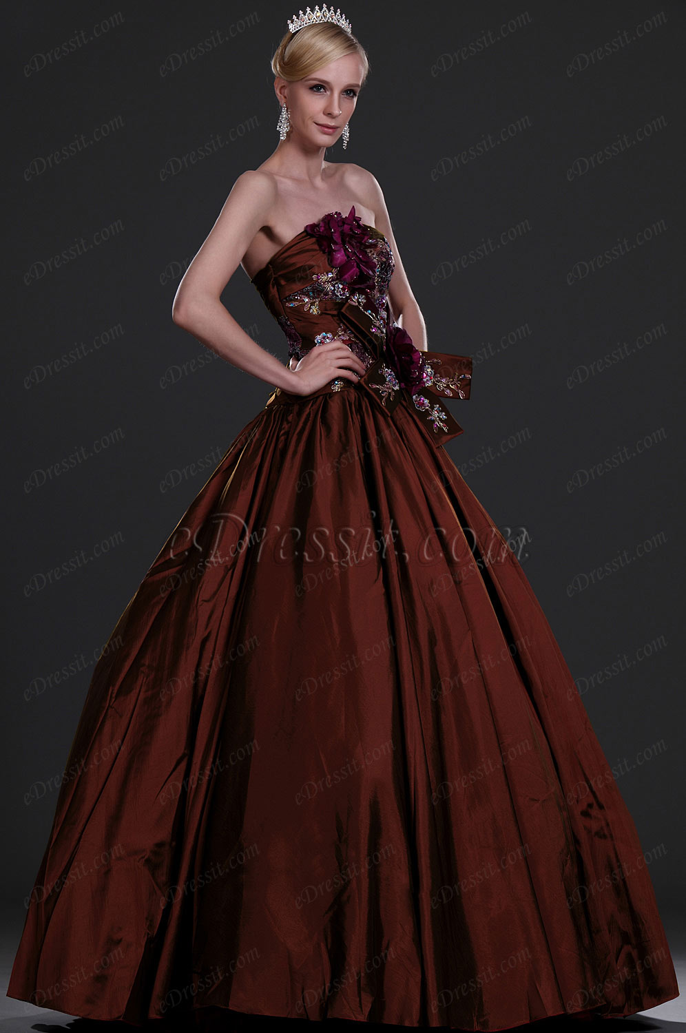 eDressit New Alluring Strapless Prom Gown (31110417)
