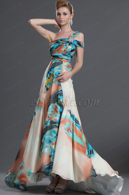 eDressit Neue Artikel Fabelhaftes Ein Schulter 100% Seiden Abendkleid (00098768)