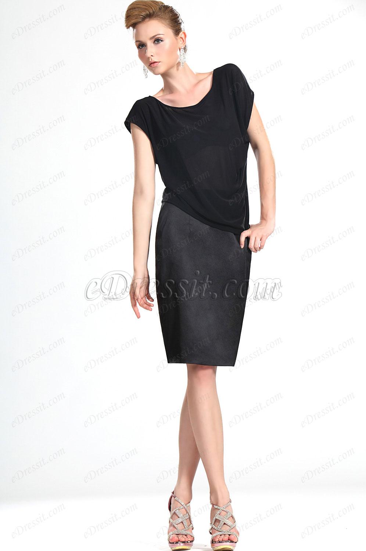 eDressit Nuevo De Moda Negro Blusa (03112000)