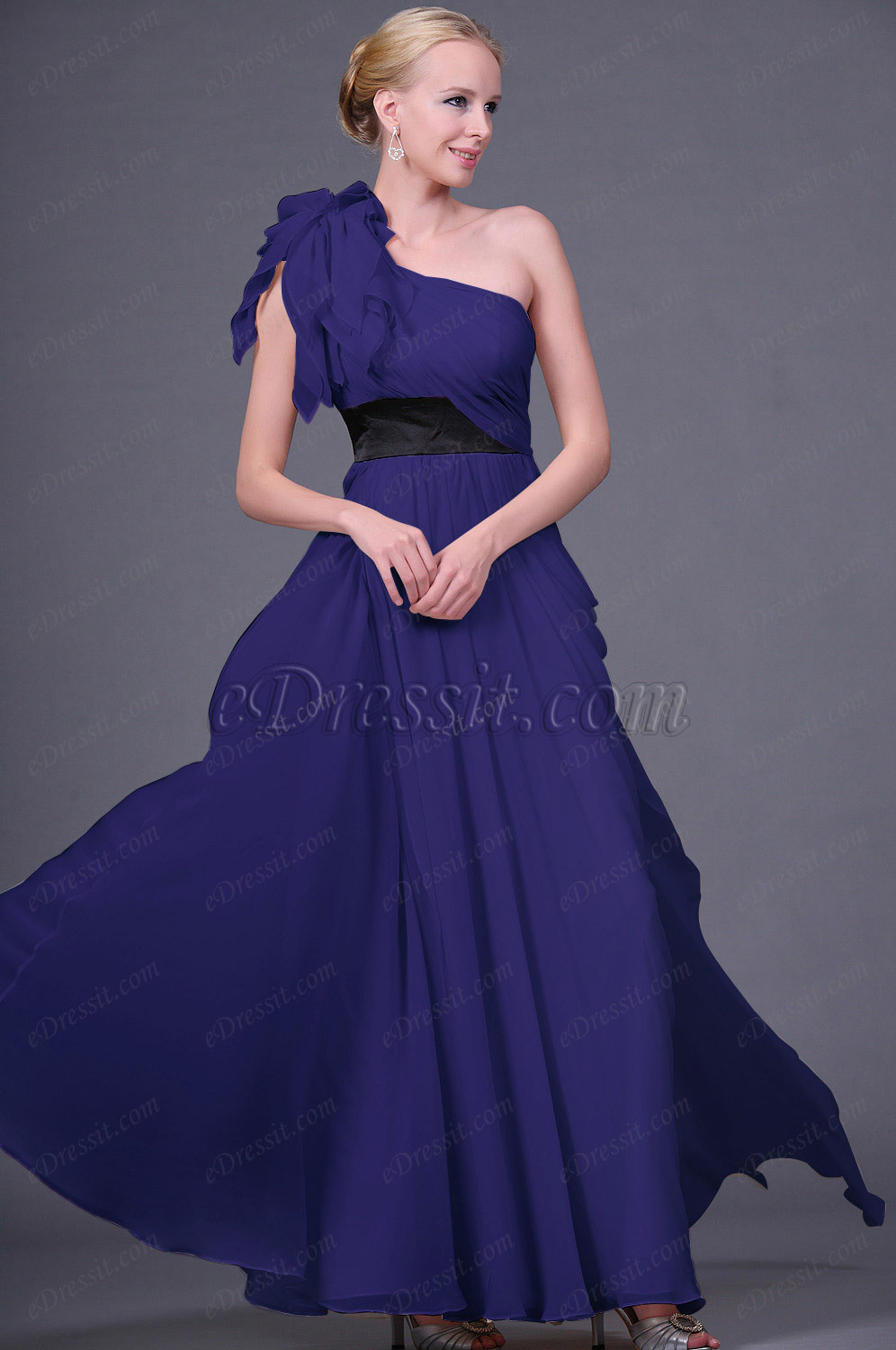 Clearance Sale!  eDressit Dark Blue Evening Dress--Size UK12 (00111314d)