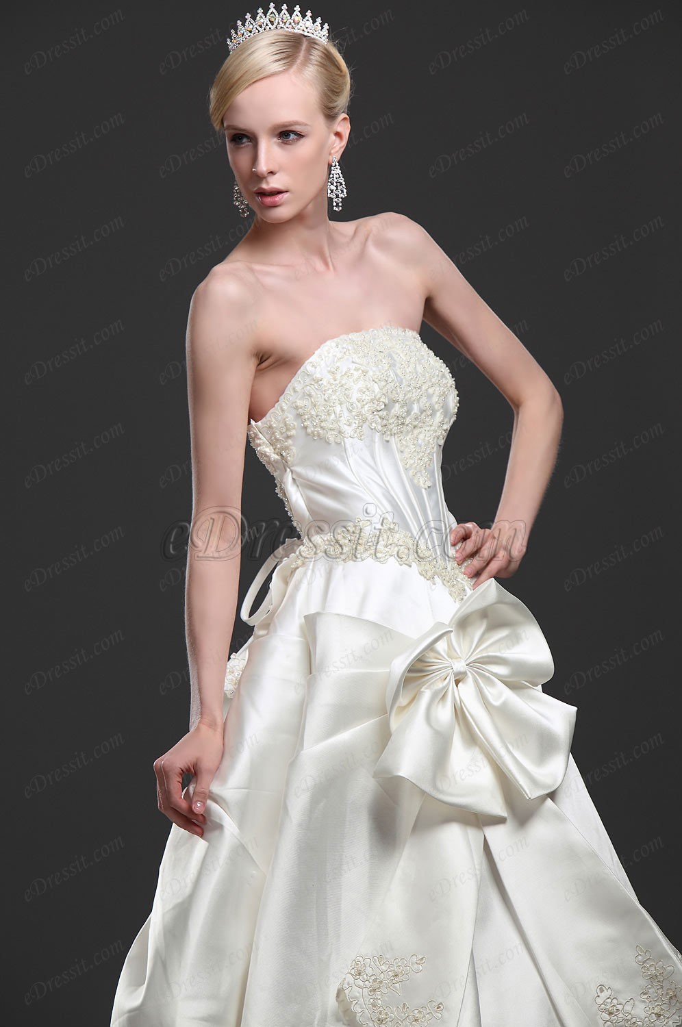 eDressit New Elegant Wedding Gown with Train (01112313)