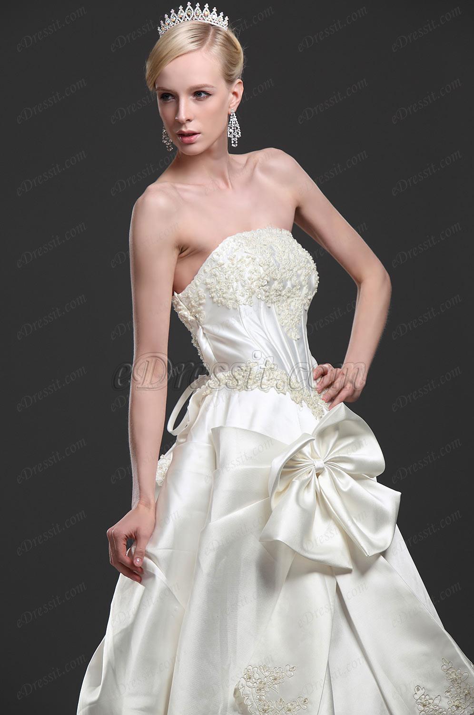 eDressit Superbe Robe de Mariee avec Traine (01112313)