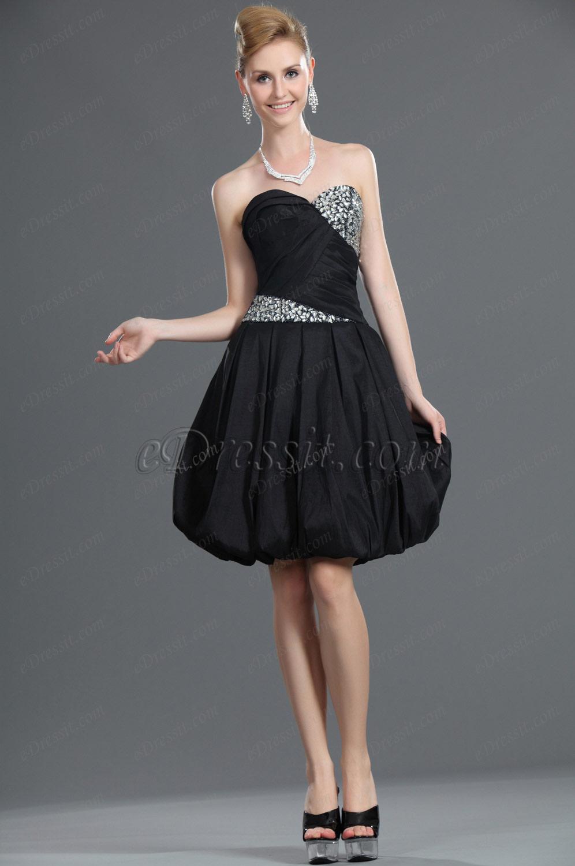eDressit Nuevo Sin Tirante Negro Adornado Vestido de Fiesta/Gala Vetido de Coctel (35110800)
