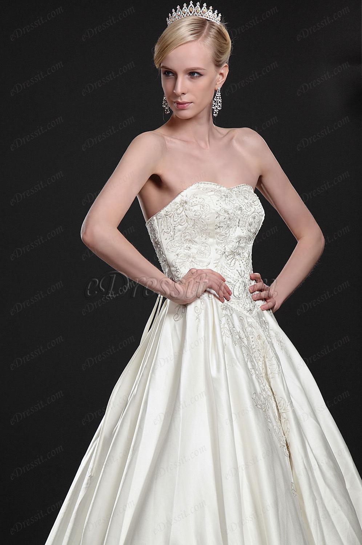 eDressit Elegant Strapless Wedding Gown (01112213)