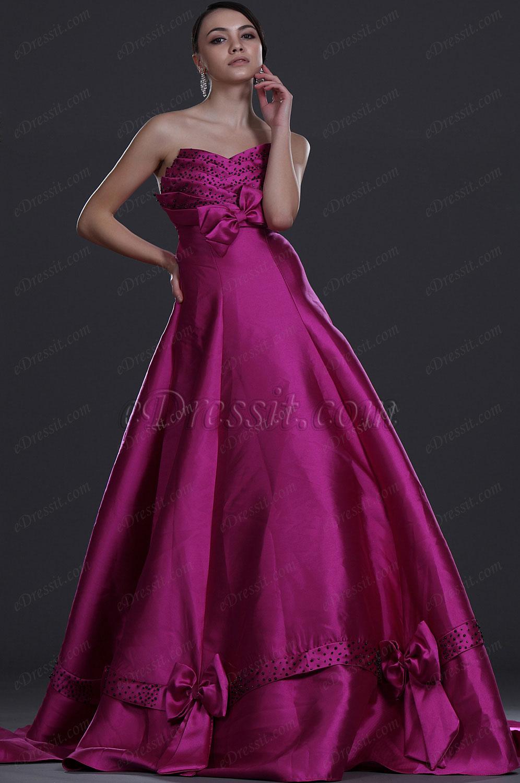 eDressit de Moda Sin tirante Vestido de Noche Vestido  de Fiesta (31110512)