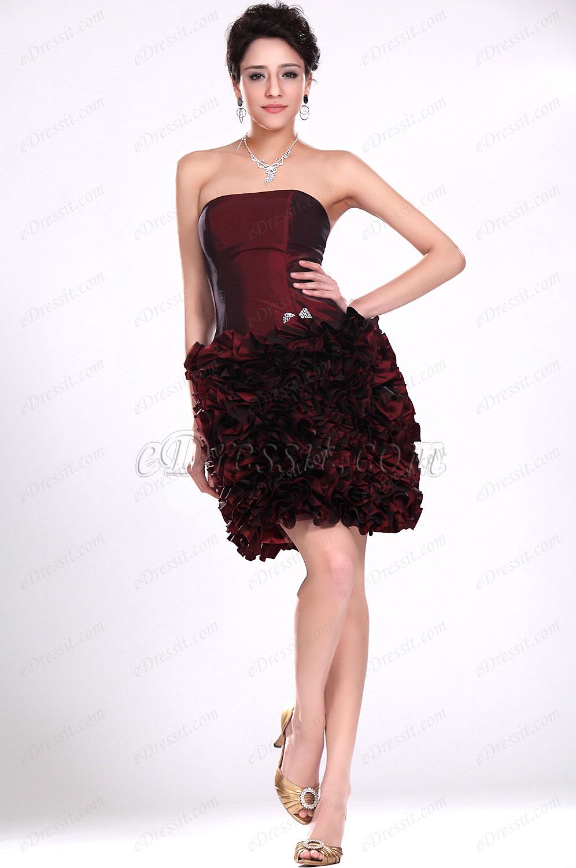 eDressit  Sin tirante vestido de coctel , vestido de Fiesta de moda (04116217)