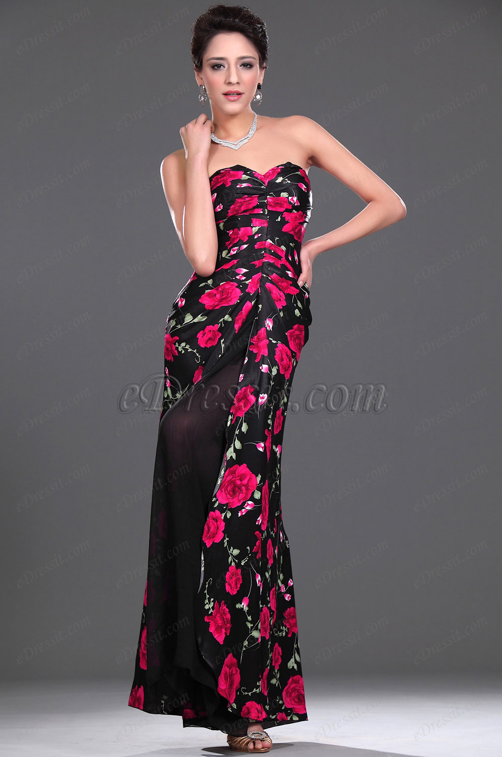 eDressit 2011 New Floral Strapless Evening Dress (00777268)