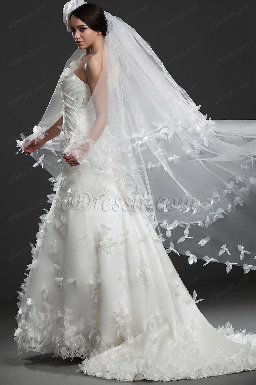 eDressit  Maravilloso Blanco vestido de boda Con encaje (01115707)