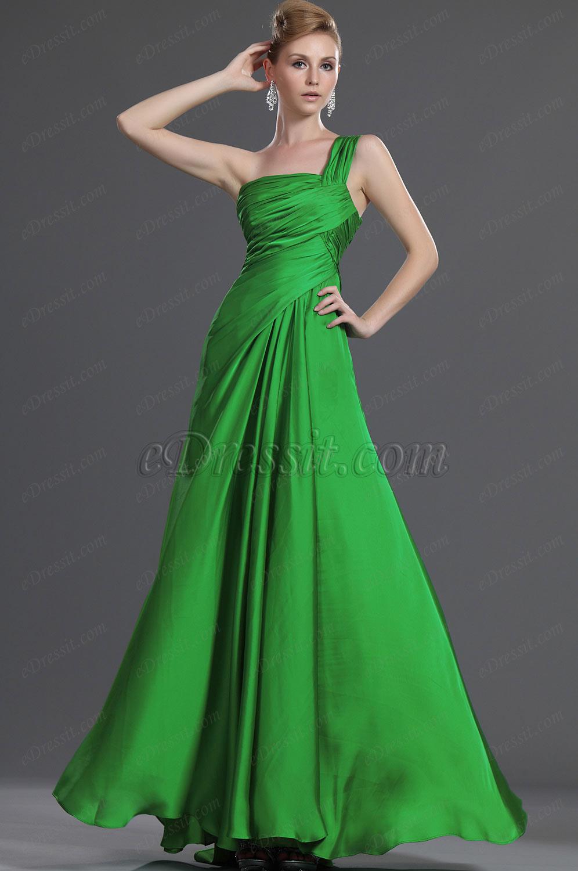 eDressit Bretelle Seule Verte Robe de Soirée (00120304)