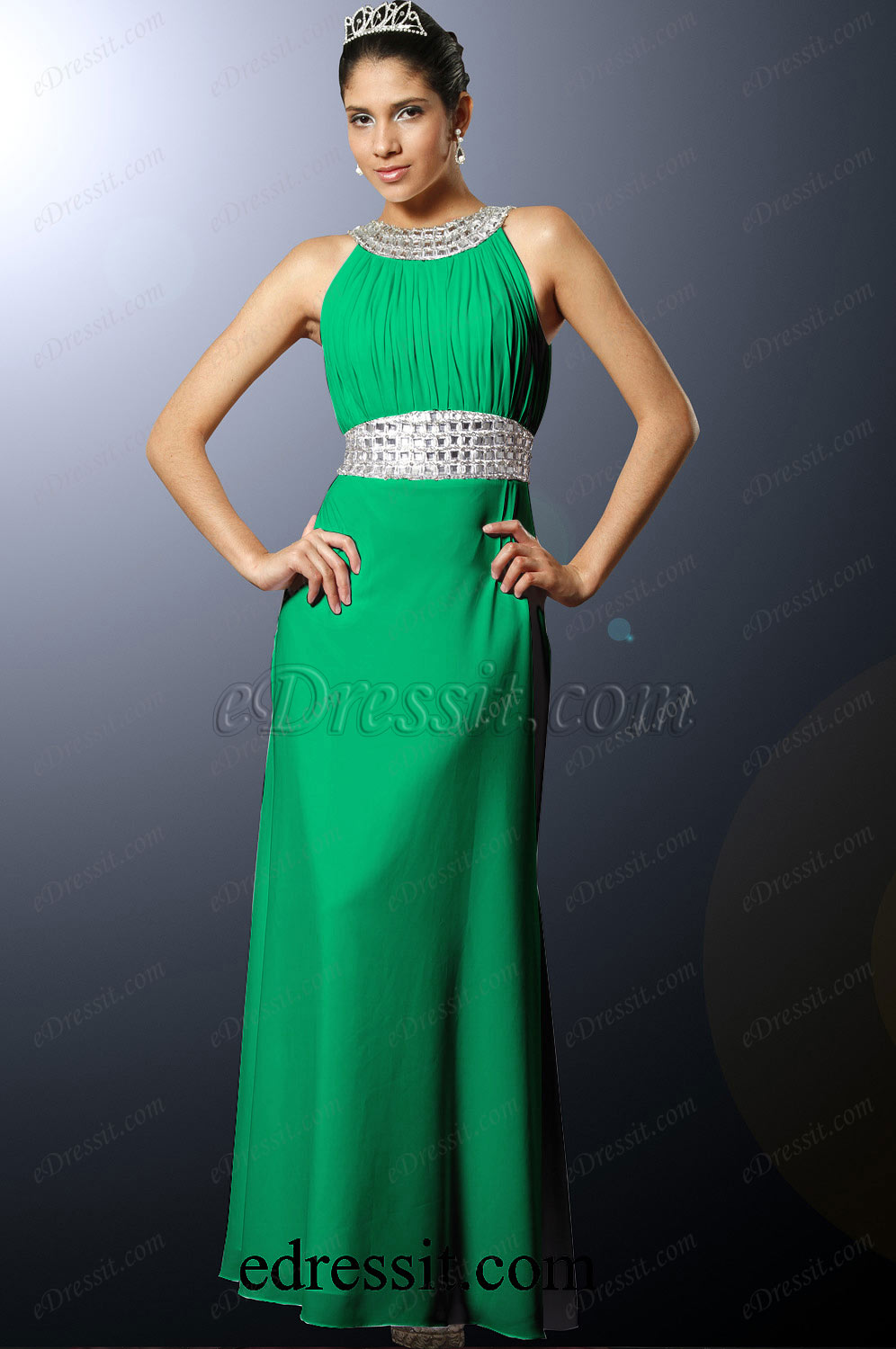 Clearance Sale ! eDressit Green Evening Dress--Size UK18 (00100207b)