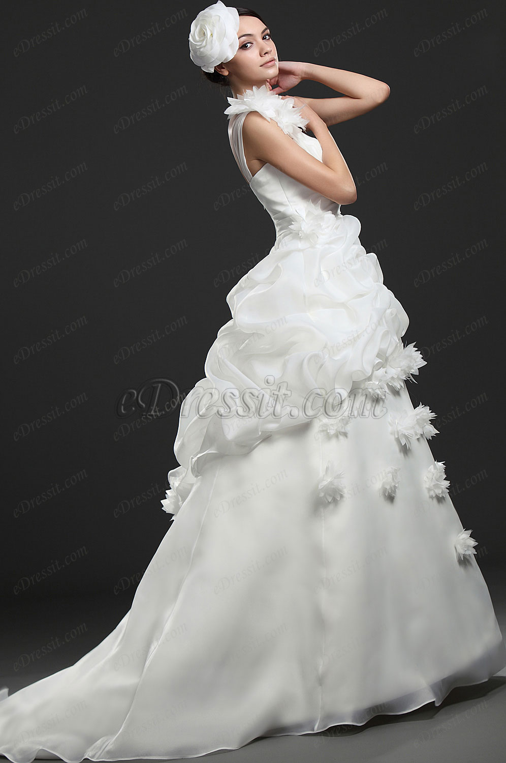 eDressit New Fabulous Ruffled Wedding Gown (01116007)