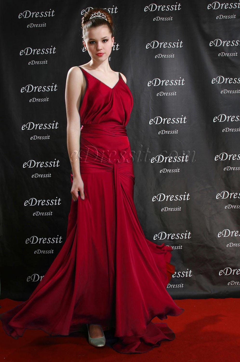 Clearance Sale ! eDressit Red Evening Prom Dress--UK16 (00082404b)