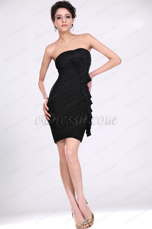 eDressit Nuevo Negro Sin tirante Apretado Vestido de fiesta& gala Vestido de coctel (04117100)