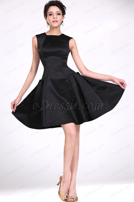 eDressit New Elegant Black Fitted Party Dress (04117300)