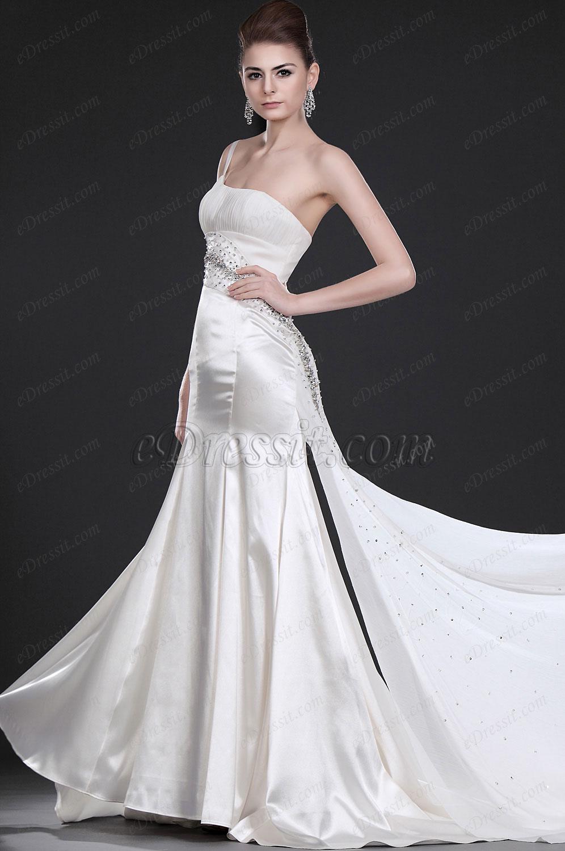 eDressit  Verführerisches Eleganzes Weiss Abendkleid (00116807)