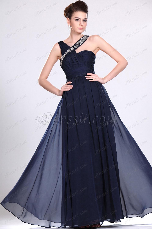 eDressit Neue Artikel Perlen Wunderbares dunkelblaues Abendkleid (00117105)
