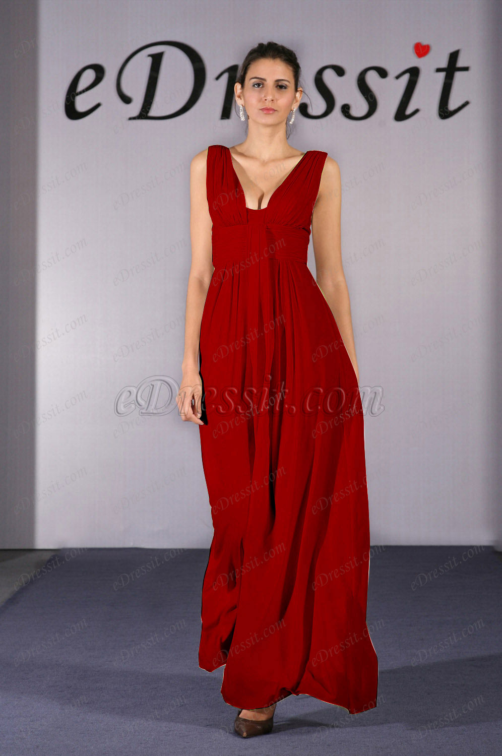 Clearance Sale ! eDressit Red Evening Dress--UK6 (00090907b)