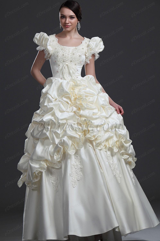 eDressit Elegante Vestido de Boda con cuentas (01113113)
