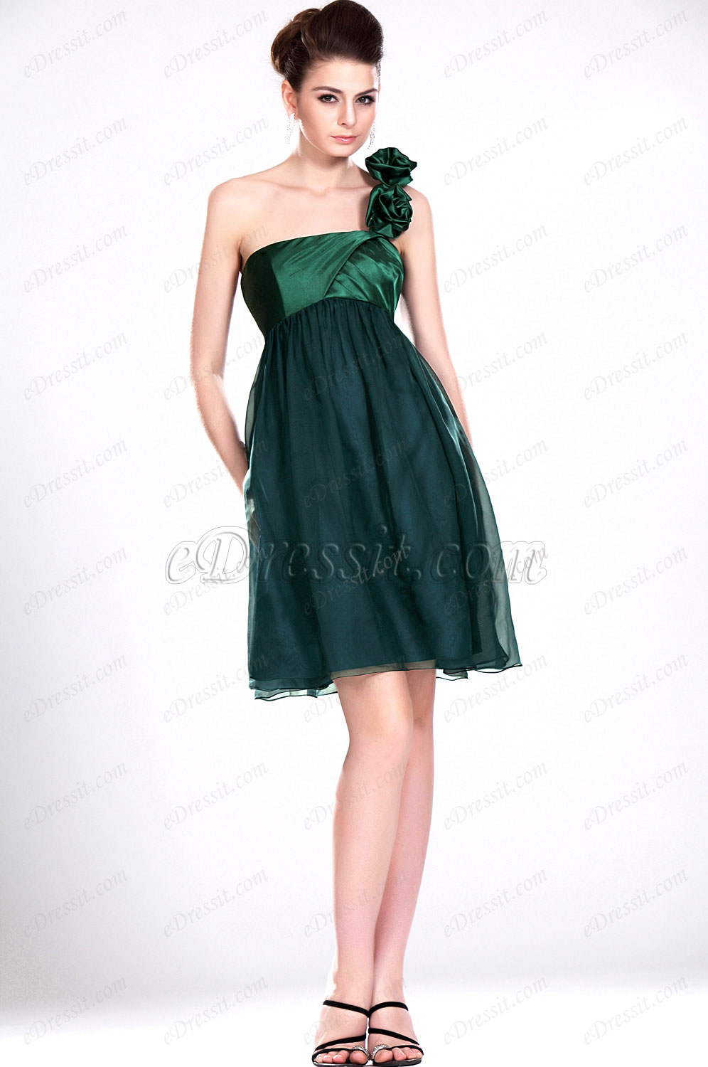 eDressit New Simple One Shoulder Green Bridesmaid Dress (07111004)