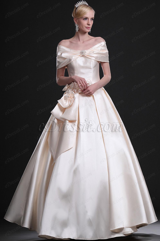 eDressit Elegant Off-shoulder Wedding Gown (01113914)