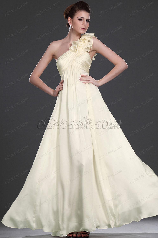 eDressit Novedad Elegante Solo hombro  diseño especial  Vestido de noche Largo (00117014)
