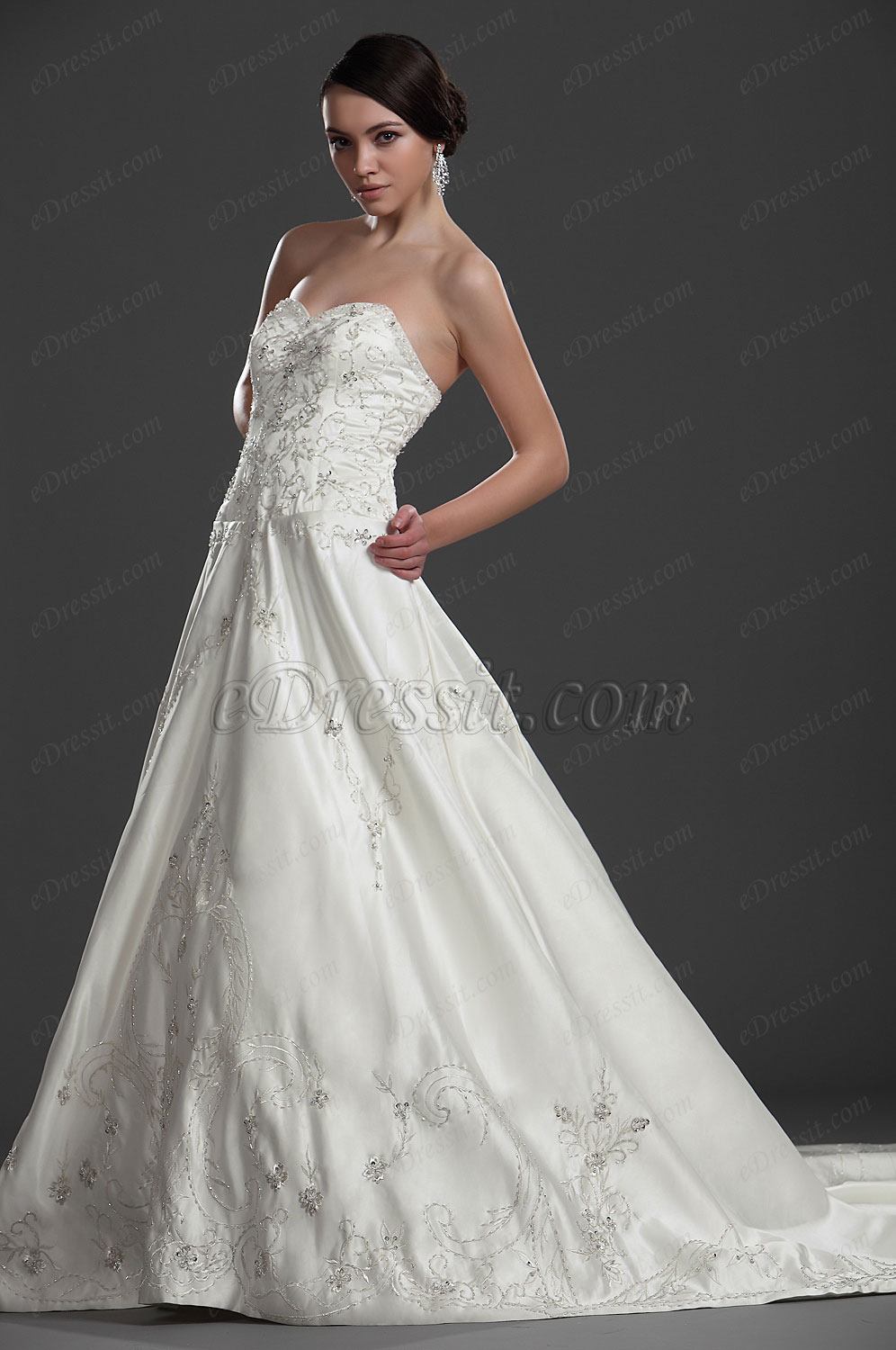 eDressit New Attractive Strapless Sweetheart Wedding Gown (01112113)