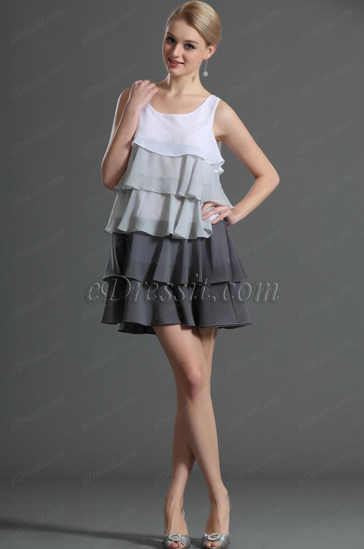 eDressit Artikel Trägerlos Multi-Schicht Tag Kleid (03120107)
