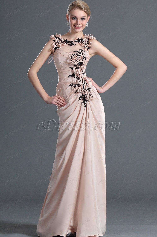 eDressit новое стильное элегантное вечерние платье без рукавов и с кружевами (00122201)