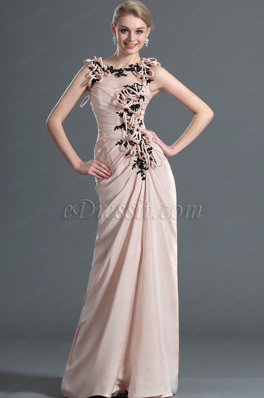 eDressit De Moda Elegante Sin Mangas Vestido de Noche Largo (00122201)
