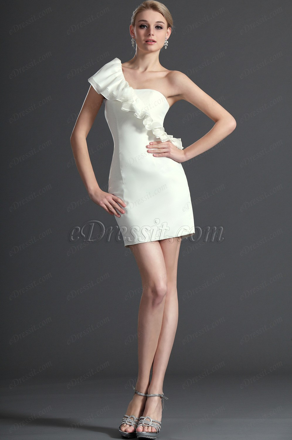 eDressit Little White Dress Cocktail Party Dress (04122807)