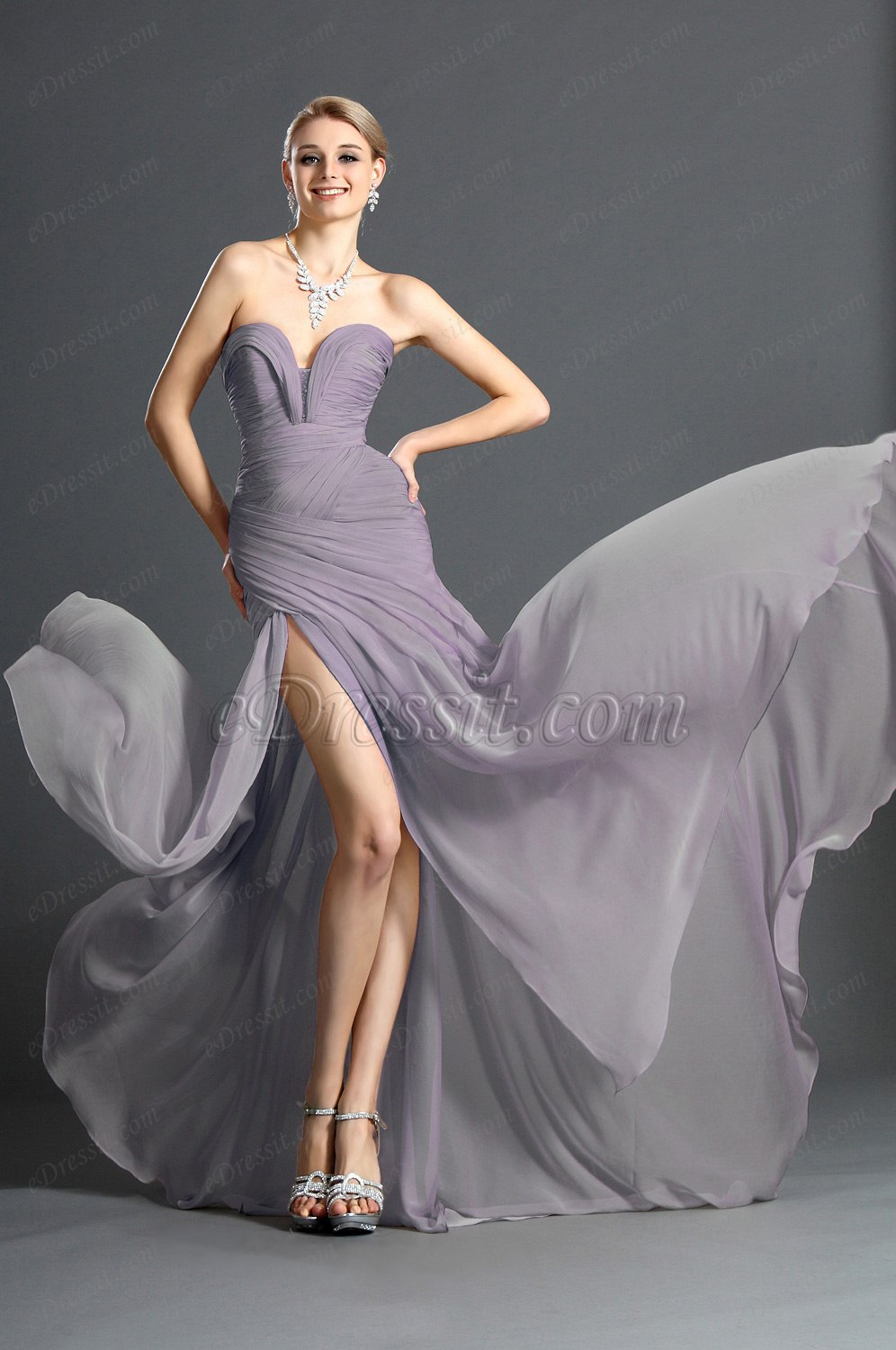 Clearance Sale !eDressit 2012 New Stylish Ruched bodice Evening Dress (00120514B)