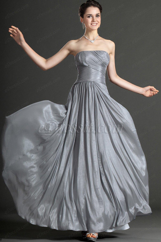 eDressit Strapless Grey Evening Dress (00121408)