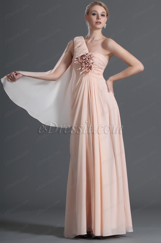 eDressit Spécial Bretelle Seule Rose Robe de Soirée (00121701)