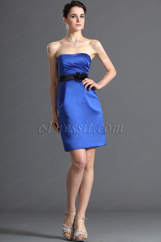 eDressit Amazing Bustier Robe de Demoiselle Bleu (07120505)