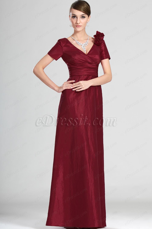 eDressit Nuevo Elegante Cortas Mangas Vestido de Ceremonia para Dama (26120702)