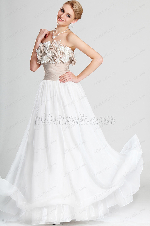 eDressit De Moda Sin Tirante Vestido de Noche (00126507)