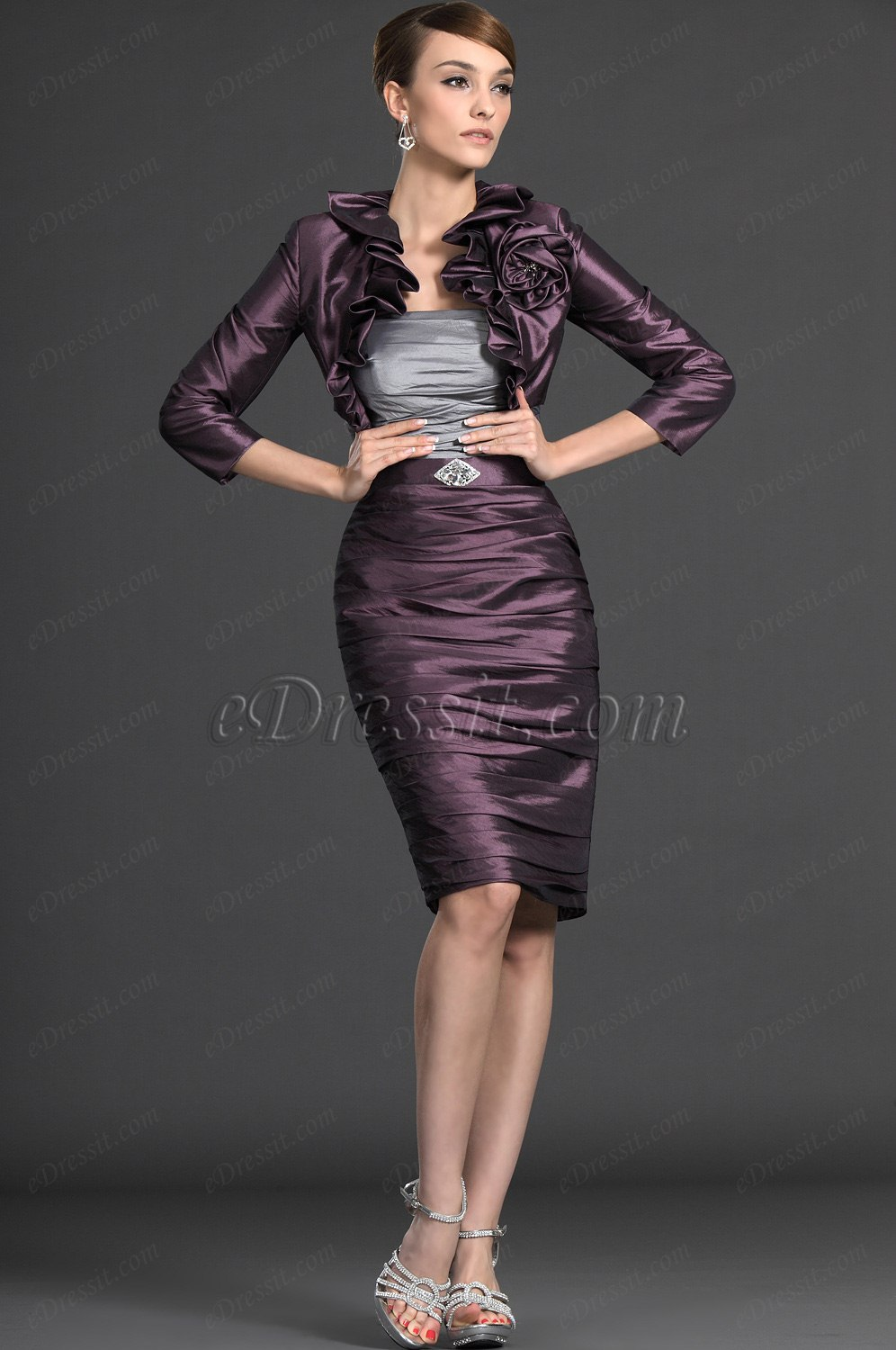 eDressit Elegance Two Pieces Mother of the Bride Dress (26124006)