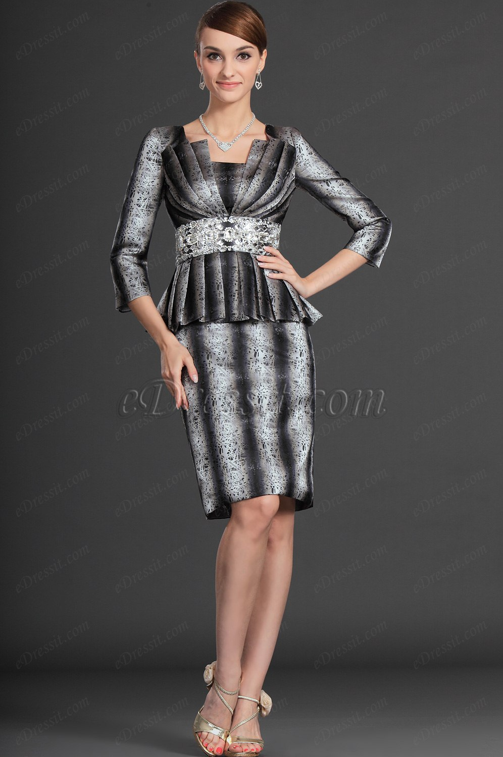 eDressit Stylish Design Shiny Stones Mother  of the Bride Dress (26121600)