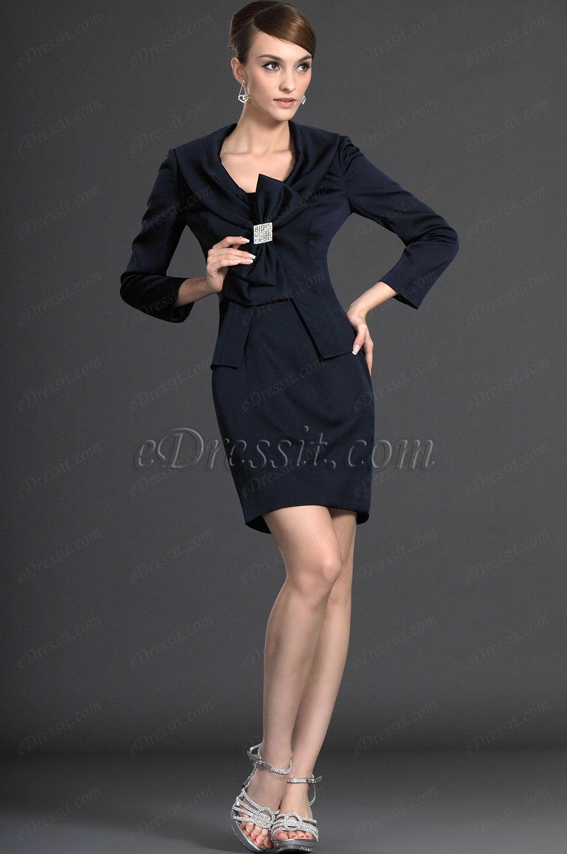 eDressit великолепное темно-синее платье для дам (26124105)
