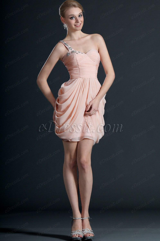 eDressit Agréable Bretelle Seule Rose Robe de Cocktail (04123201)