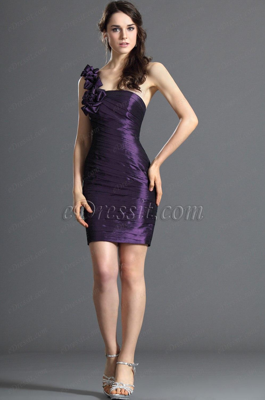 eDressit Ein Schulter Brautjunfer Kleid Cocktail Kleid Ballkleid (07122006)