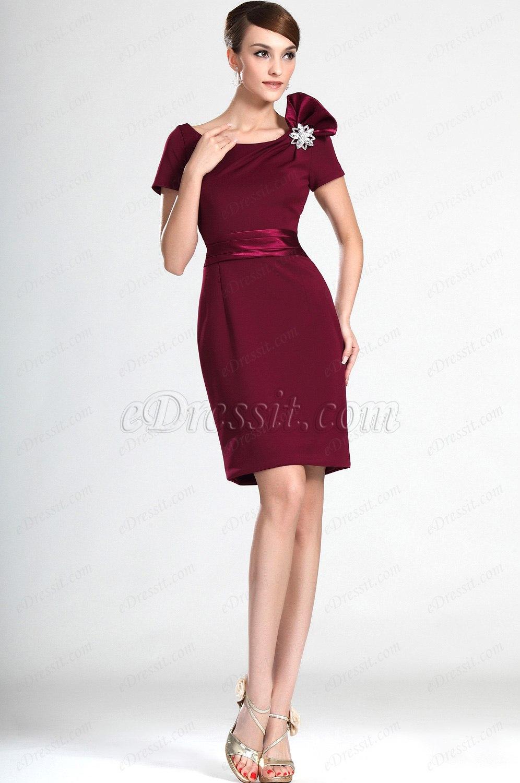 eDressit Elegent Kurze Ärmel Kleid der Mutter von Braut (26120517)