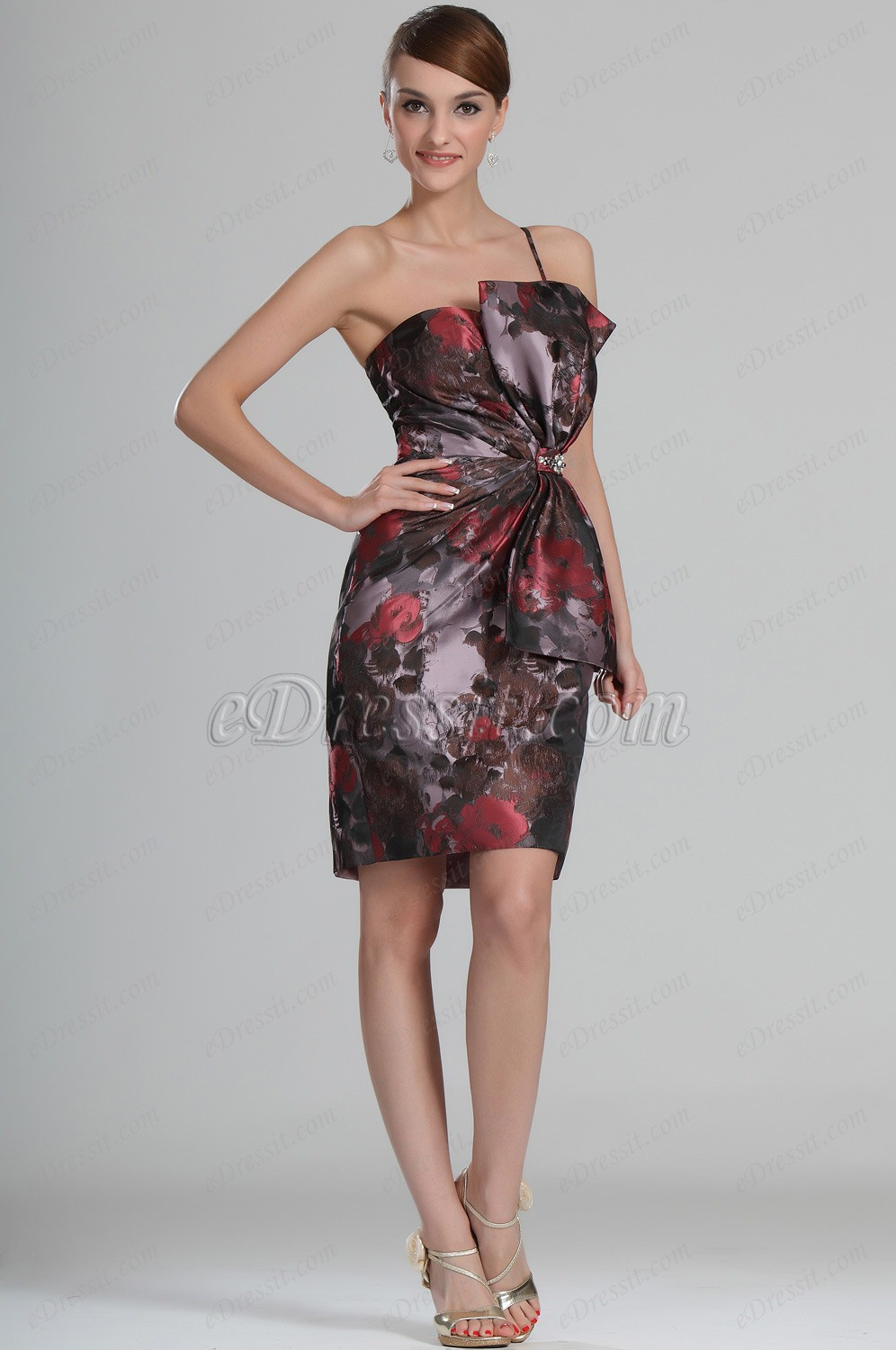 eDressit Scharmant Floral Schleife Cocktail Abendkleid / Ballkleid (04123568)
