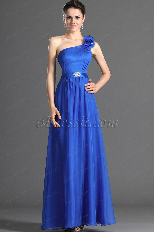 eDressit привлекательное синее длиное платье для свидетельницы (07121205)