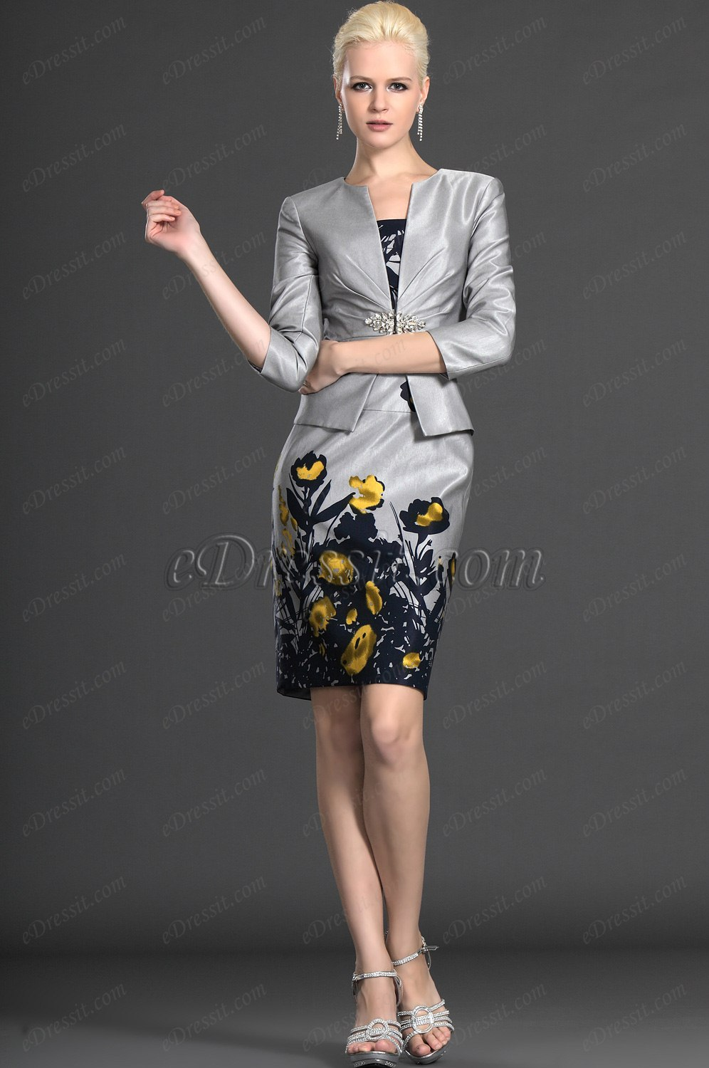 eDressit 2012 New Arrival Two Pieces Gray Mother of the Bride Dress (26124308)