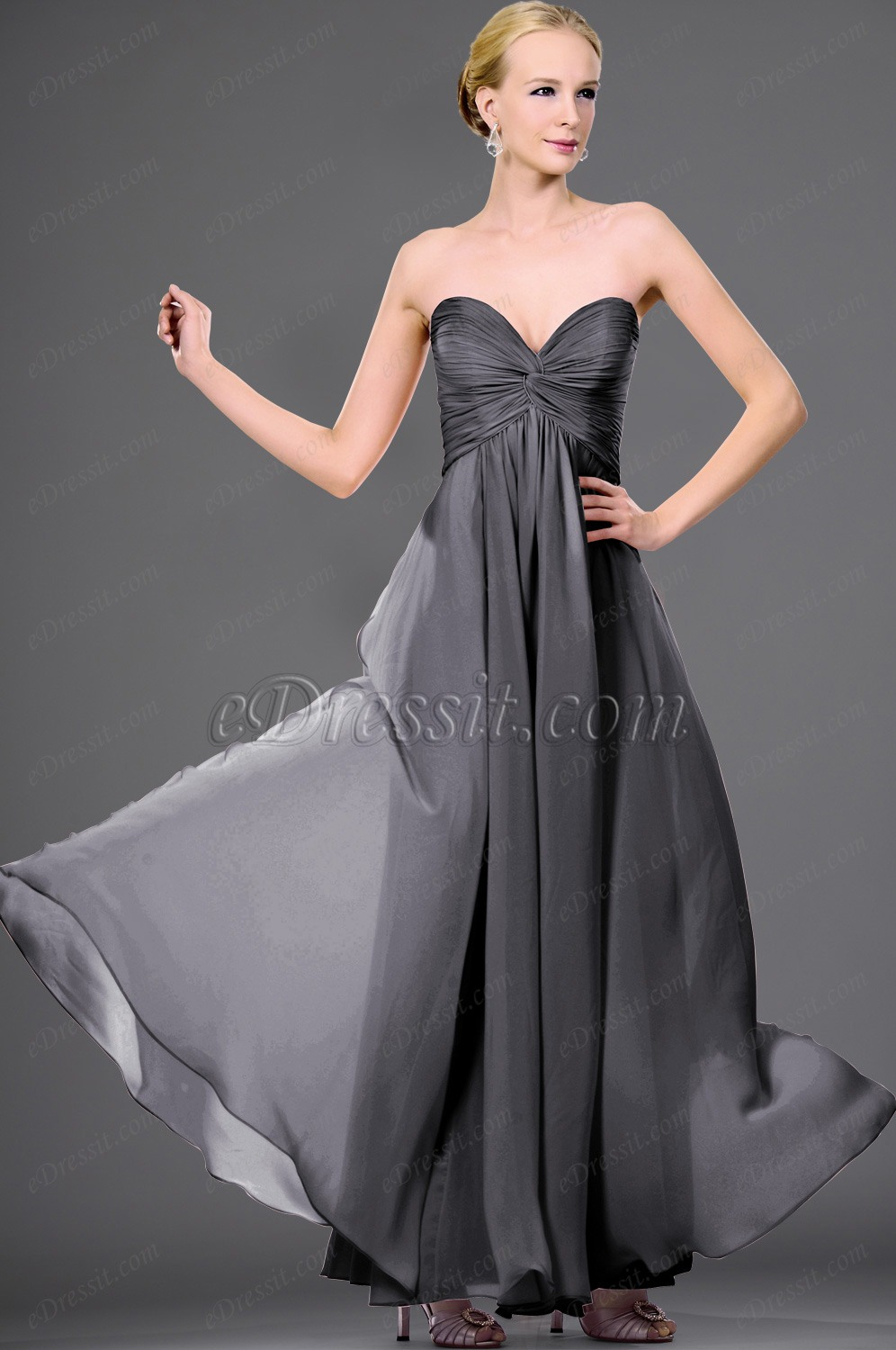 Clearance Sale !eDressit strapless Dark grey evening dress (00105701B)